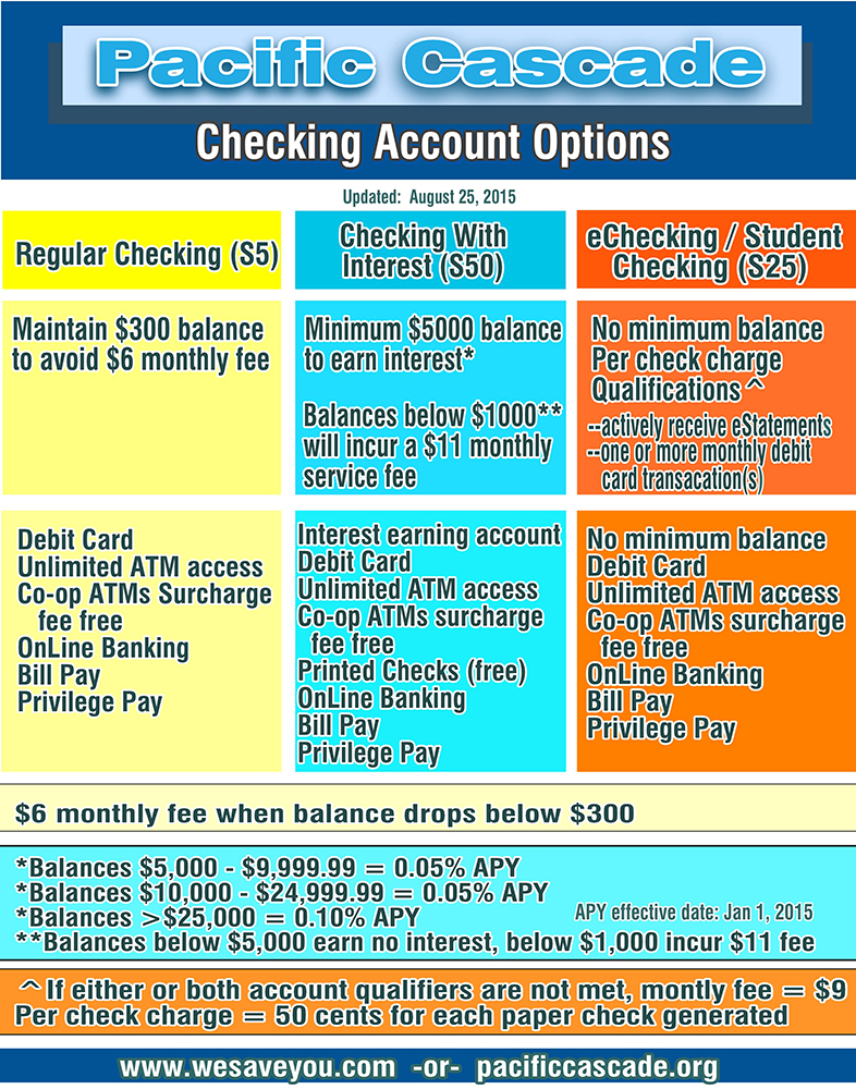 Checking Account Options Poster